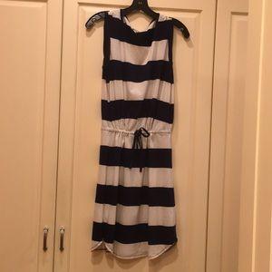 Splendid striped dress with drawstring waist.